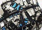 wewo Leinwand Groß rucksack schule schulrucksack jungen schultasche jugendliche wasserfest laptop Backpack 15.6 Zoll Daypack schoolbag hochschule (blau)