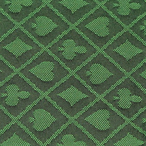 (10' Section of Green Two Tone Poker Table Speed Cloth)