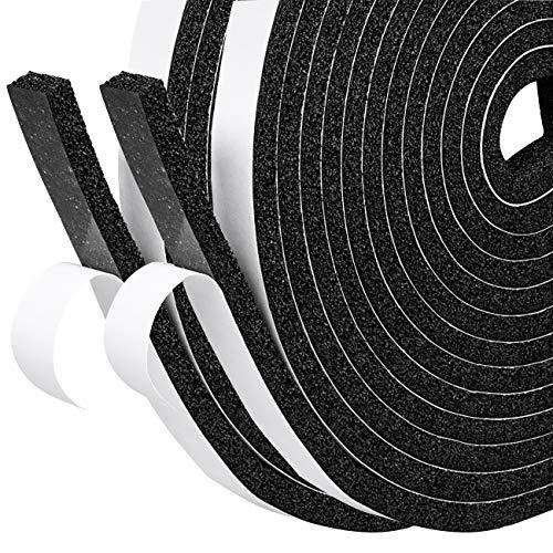 TRIXES Dichtungsband f/ür t/üren 5m schwarze selbstklebende Fensterdichtung Zugluft abhaltend Fensterdichtband D-Profil Zugluftstopper /& T/ürdichtungen auch f/ür Autos