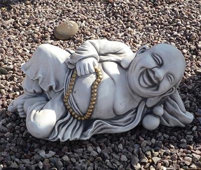 Large Garden Ornaments - Laying Stone Buddha Statue