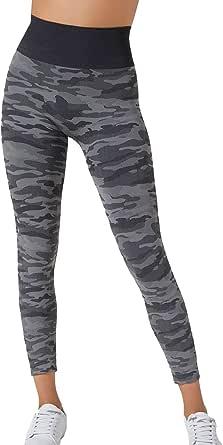 BeGood - Leggings Sport Militare Camouflage Snellente Donna. Tonifica, Drena, Idrata, Combatte la Anticellulite mentre lo utilizzi. In tessuto Tecnico Brevettato e Clinicamente Testato