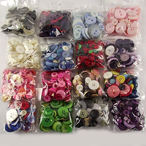 Packets Assorted Buttons Crafts Making