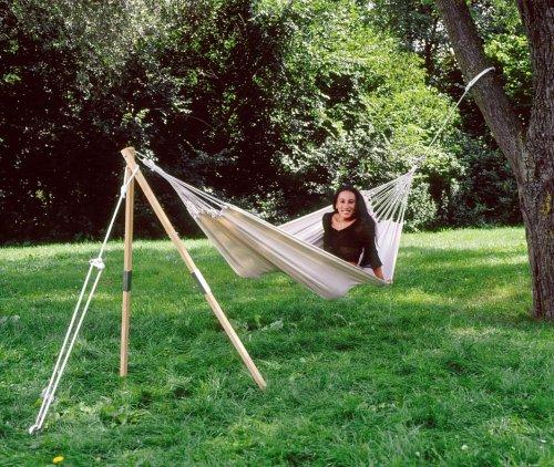 AMAZONAS Hängemattengestell MADERA EIN-Baumersatz aus wetterfestem Eschenholz ca. 165 cm bis 100 kg (Ersatz Hängematte)