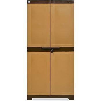 Nilkamal Freedom 18 Mini Shoe Cabinet (Sandy Brown and Dark Brown)