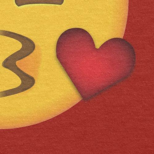 TEXLAB - Blow Kiss Emoji - Herren T-Shirt Rot