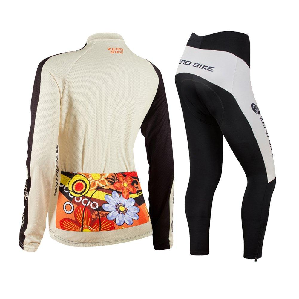 ELEAR/&Reg; Traspirante a Maniche Lunghe 3D Gel Imbottito Bicicletta Bici Bicicletta Maglia Ciclismo Abbigliamento Donna