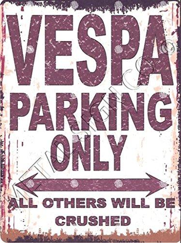 Kleine Vespa Classic Scooter Parking Metall Schild retro vintage style Garage Schuppen Werkstatt Bar Pub Wand Kunst Büro Spiele Raum -