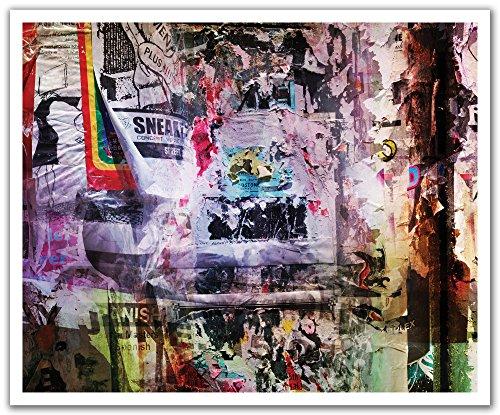 JP London schälen und Stick Abnehmbare Wandtattoo Aufkleber Wandbild, Sneaker Pimp Graffiti Bill Post, 24von 19.75-inch