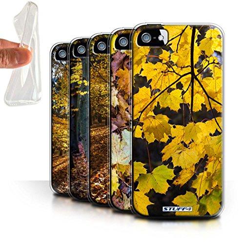 Stuff4 Gel TPU Hülle / Case für Apple iPhone SE / Baum/Blätter Muster / Herbst Saison Kollektion Pack 5pcs