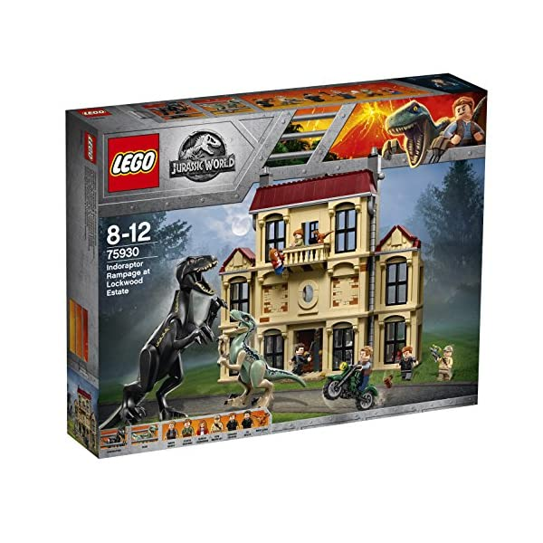 LEGO Jurassic World Attacco dell'indoraptor al Lockwood Estate, Multicolore, 75930 3 spesavip