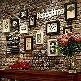 De pared Shop en creativos de cabeza de ciervo pared montado en Peluquería Salon Ropa Accesorios Retro salón. Distressed Ornamente?dassder cabeza de ciervo, Negro de pintar blanca Joyero + Pare