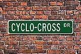 Cyclocross Schild Fan Cyclocross Geschenk Bike Race über Verschiedene Gelände Street Art Wall Decor Aluminium Metall Schild 45x 10cm