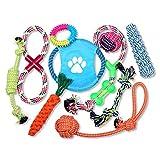 Schramm 10er Set Hunde Spielzeug aus Seil Kauspielzeug Dog Hund Kauspielzeug Baumwollknoten Hundespielzeug 10 Teile Kauspielzeug