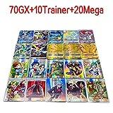 RosyXandy 100 unids Pokemon TCG Mega Juego de Tarjetas Flash...