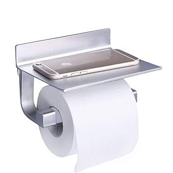 toilettenpapierhalter selbstklebender wc papierhalter ohne bohren rollenhalter mit ablage f r. Black Bedroom Furniture Sets. Home Design Ideas