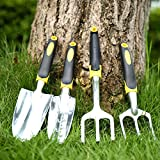 4pcs migliore qualità anticorrosione lega Garden cazzuola pala Rake spade forcella scavo strumenti per giardiniere Coltivatore Planter