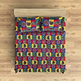 EIN SOF Cotton Double Bedsheet King Size (90x100 Inches) With 2 Pillow Covers Combo Set, Double Bed, King Size Cotton Bedsheet,3D Printed Technology, Contemporary Design (Multi Color, 150 TC)