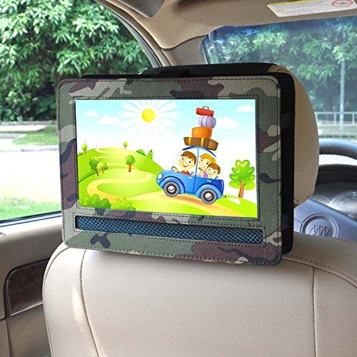 """Supporto da auto, supporto per poggiatesta auto per ODYS SEAL 23cm (9"""") Portabler DVD-Player (Camo)"""