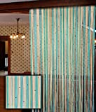 Home Sazz Single Door Beaded String Curt...