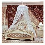 Xcellent Global Moustiquaire de lit à baldaquin, dôme en dentelle anti-insecte blanc HG134