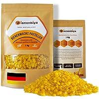 Bienenbiya® 100% Reine Bienenwachs Pastillen (1Kg) ohne Zusatzstoffe, 1000g natürliches Bio Beeswax für Salben,Kosmetika…