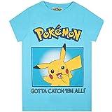 Pokemon Camiseta niños Pikachu Gotta Catch Em All Kids Girls Blue Top