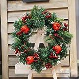 DYMAS Guirnalda de Navidad 30cm Hotel Ventana Viejo Hombre de la Puerta Colgante diseño de Escena del árbol de Navidad