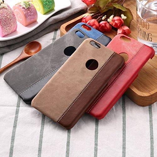 IPhone 6S Case Cover, Cowboy Jeans Texture Pattern Couverture en plastique dur en plastique pour IPhone 6S ( Color : Black , Size : IPhone 6S ) Brown