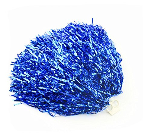 2 STÜCKE 70 Gramm 30 cm / 11,8 '' Cheerleading Cheerleader Ring Pom Poms Sport Party Zubehör Dance Ball Party Sport Pompoms Jubeln Pom für Colleage Team Geist Corporate Events (Blau)