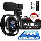 Videocámara 4K Cámara de Video Digital Ultra HD 48MP WiFi Videocamara para Youtube Pantalla táctil de 3.0 Pulgadas Videocámar
