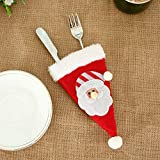 Gaddrt Weihnachten Geschirr Decken dekorative Geschirr Gabel Set Weihnachten Hut Storage Tool (A)
