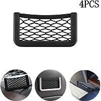 Godob Car Storage Net Pocket Automotive Car Seat Side Storage Mesh Bag Organizer Smartphone Holder