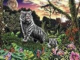 Ravensburger - Im Reich der weissen Tiger, 1000 Teile Puzzle