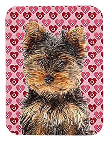 Cœurs Amour et Saint Valentin motif Yorkie chiot/Yorkshire Terrier Tapis de souris, dessous de plat Hot Pad ou kj1195mp