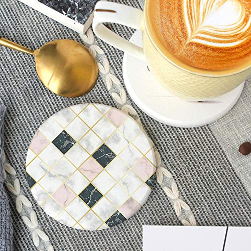 ZCHPDD Muster Anti-Verbrühungs-Untersetzer Schnelltrocknender Kieselalgenschlamm-Waschtisch Anti-Mehltau-Untersetzer Stil 4 10 * 10Cm * 2St (Tischsets Zum Verkauf)