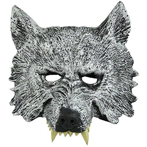 NUOLUX Leiter Wolf Maske für Cosplay Halloween Masquerade Grey