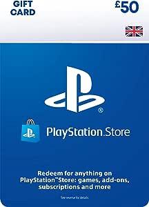 PlayStation PSN Card 50 GBP Wallet Top Up | PS5/PS4 | PSN Download Code - UK account