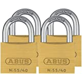 ABUS Brass hangslot 55/40 Quads Set 4 stuks, 33694