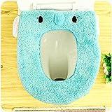 SOEKAVIA Toilettensitzbezug Wärmer Waschbar WC-Sitzbezüge für allgemein Toilettensitz-blau Elephant