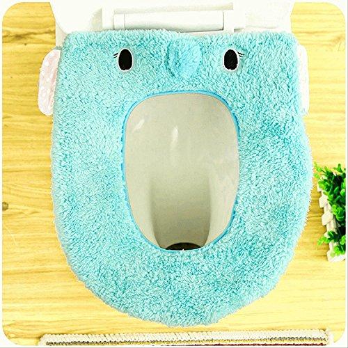 Soekavia coprisedili igienici, bagno caldo morbido lavabile sedile del water cuscino blau elephant