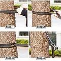 OUNONA 2Hängematte Träger Tree Swing Aufhängen Seilen mit 2mit schwerem Boden Karabiner Haken für Outdoor-Aktivitäten (orange) von OUNONA - Gartenmöbel von Du und Dein Garten