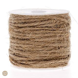 RUNGAO 10M DIY Color Hemp Rope 2mm Natural Craft Jute Rope Cord Thick String Natural