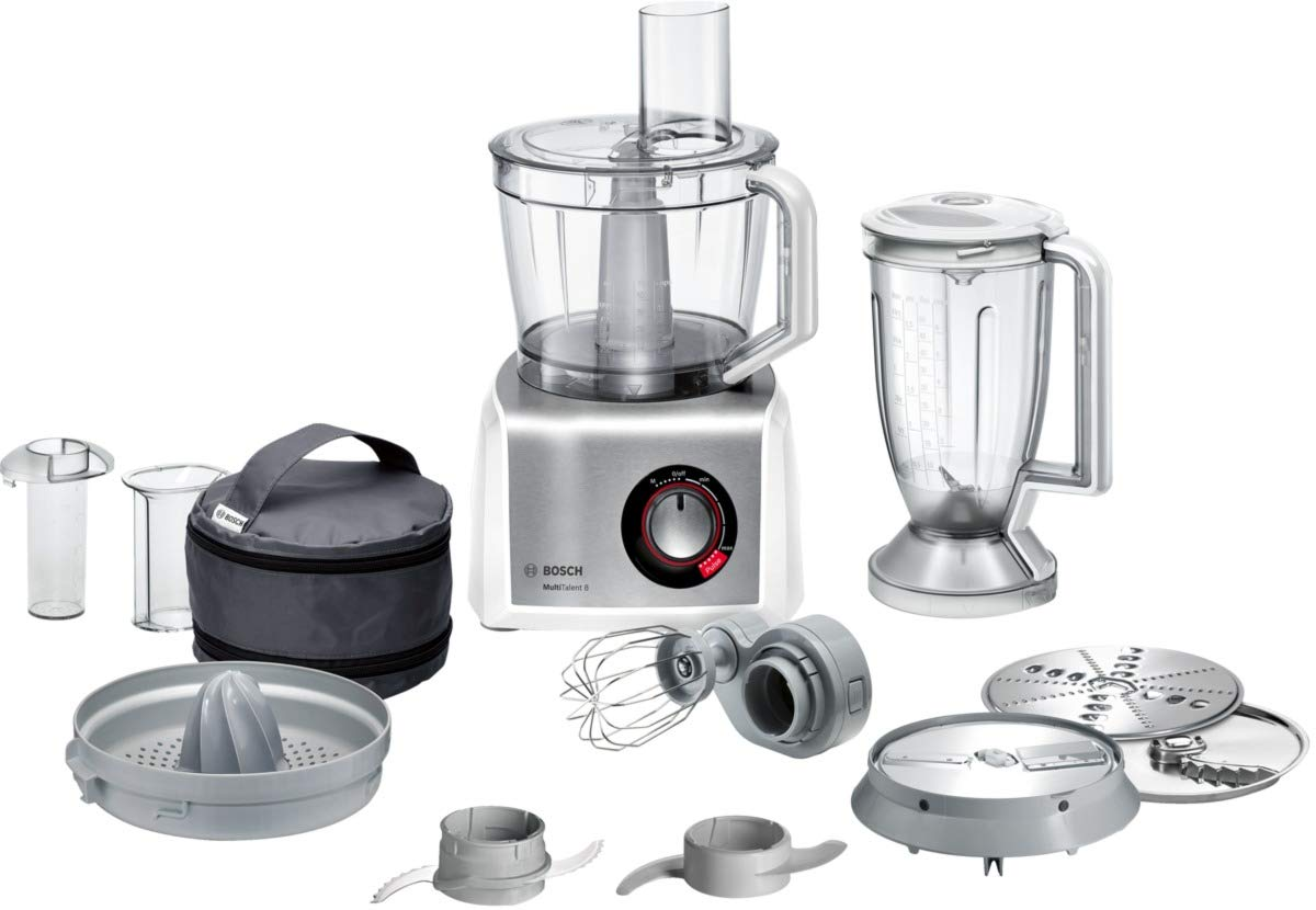 614WXp9Ss%2BL - Bosch MutiTalent8 MC812S734G Food Processor, Plastic, 1200W - White/Stainless Steel