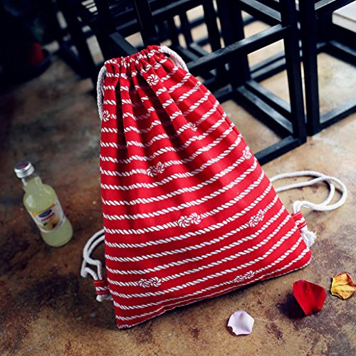 Internet Womens Canvas Fashion Rucksack rot