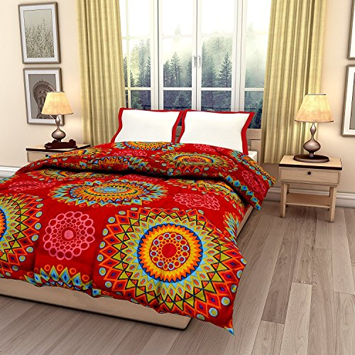JaipurCrafts 220 TC Flowers Print Reversible Poly Cotton AC Comforts/Blanket/Quilt (Single Bed)