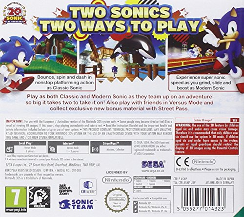 Image of Sonic Generations (Nintendo 3DS)