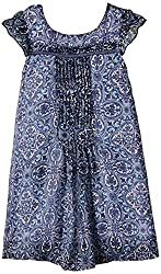 Nauti Nati Girls Dress (NSS15-462_Navy&Printed_6 years)