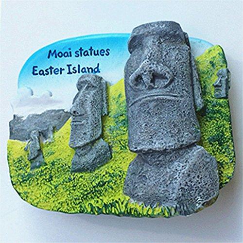 berühmten Ostern Insel Chile Souvenir Kühlschrankmagnet Geschenk Polyresin Kühlschrank Magnet Dekoration Home Dekoration Geschenke (Ostern Kühlschrank-magnete)