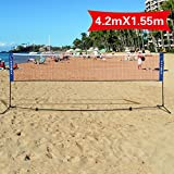 Best Volleyball Nets - Costway 3m or 4m Adjustable Foldable Badminton Tennis Review