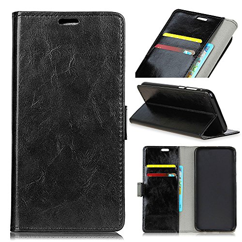 ChainPlus Samsung Galaxy J4 2018 Wallet Case, Stylish Slim PU Leather Design Stand and Card Holders Wallet Phone Cover Pocket Protective Case for Samsung Galaxy J4 2018 -Black (Light Custom Switch)